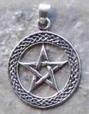 Anhänger Pentagramm im Kreis (2,5 cm)