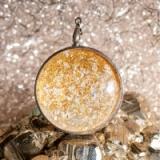 Amulett Sonnenlicht - mit Diamant, Blattgold und Blattsilber